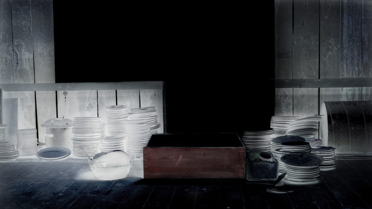 Corinne Mercadier, Assiettes, série  Black Screen, 2012