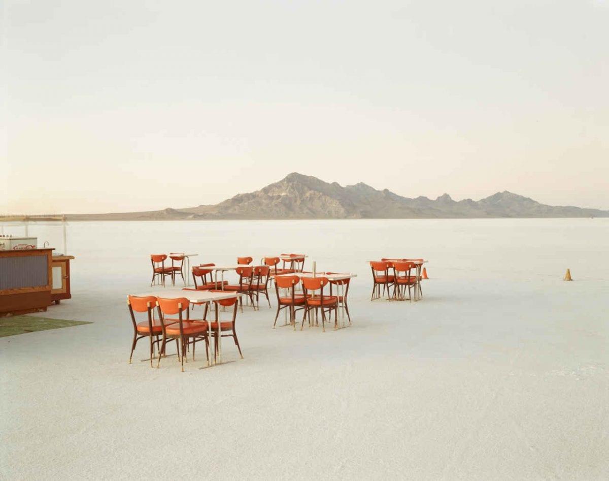 © Richard Misrach, Outdoor Dining, Bonneville Salt Flats.