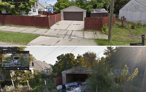 Fisheye Magazine | Détroit, avant/après sur Google Street View