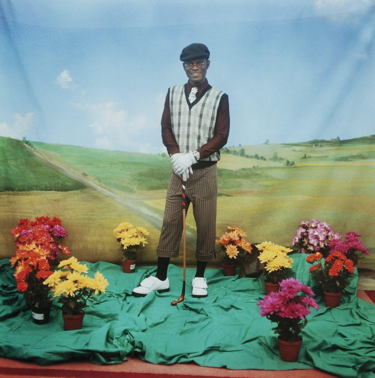 Le Golfeur Autoportrait Série TATI Photographie couleur 1997 120 x 120 cm