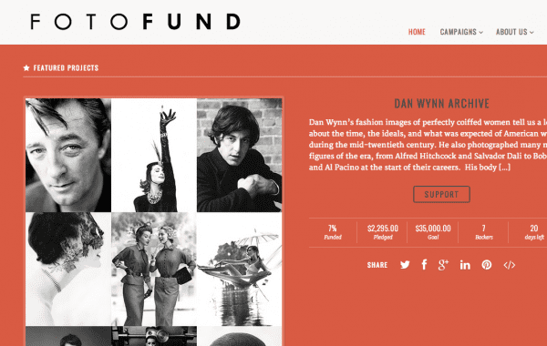 Fisheye Magazine | Fotofund, une nouvelle plateforme de crowdfunding 100% photo
