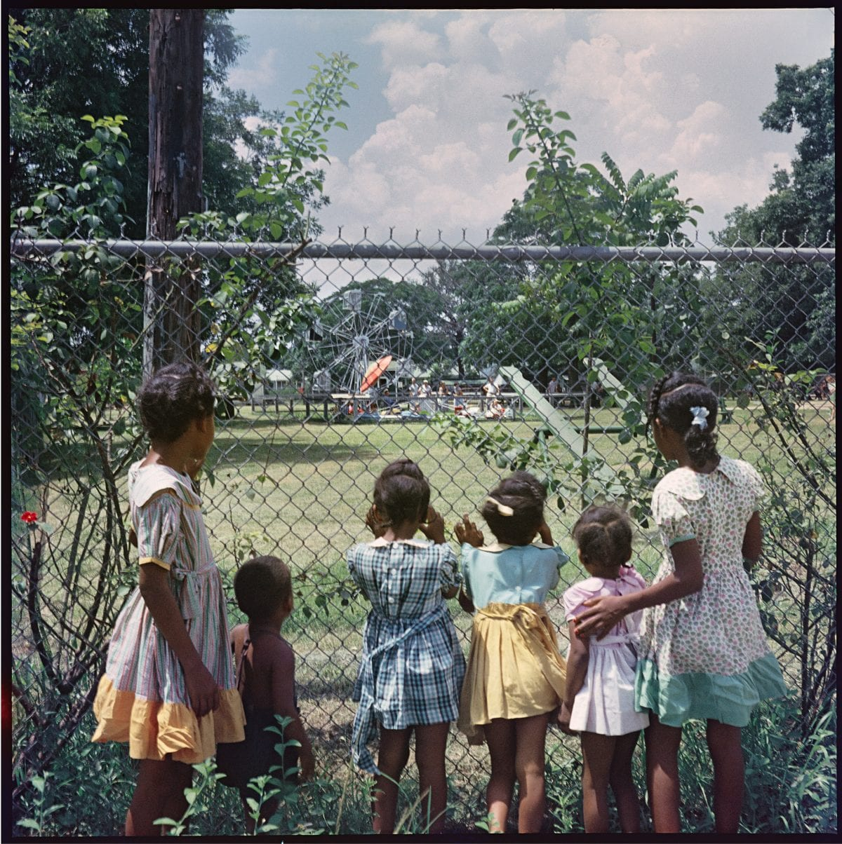 Gordon Parks (American, 1912–2006), Outside Looking In, Mobile, Alabama, 1956, courtesy of and copyright The Gordon Parks Foundation.