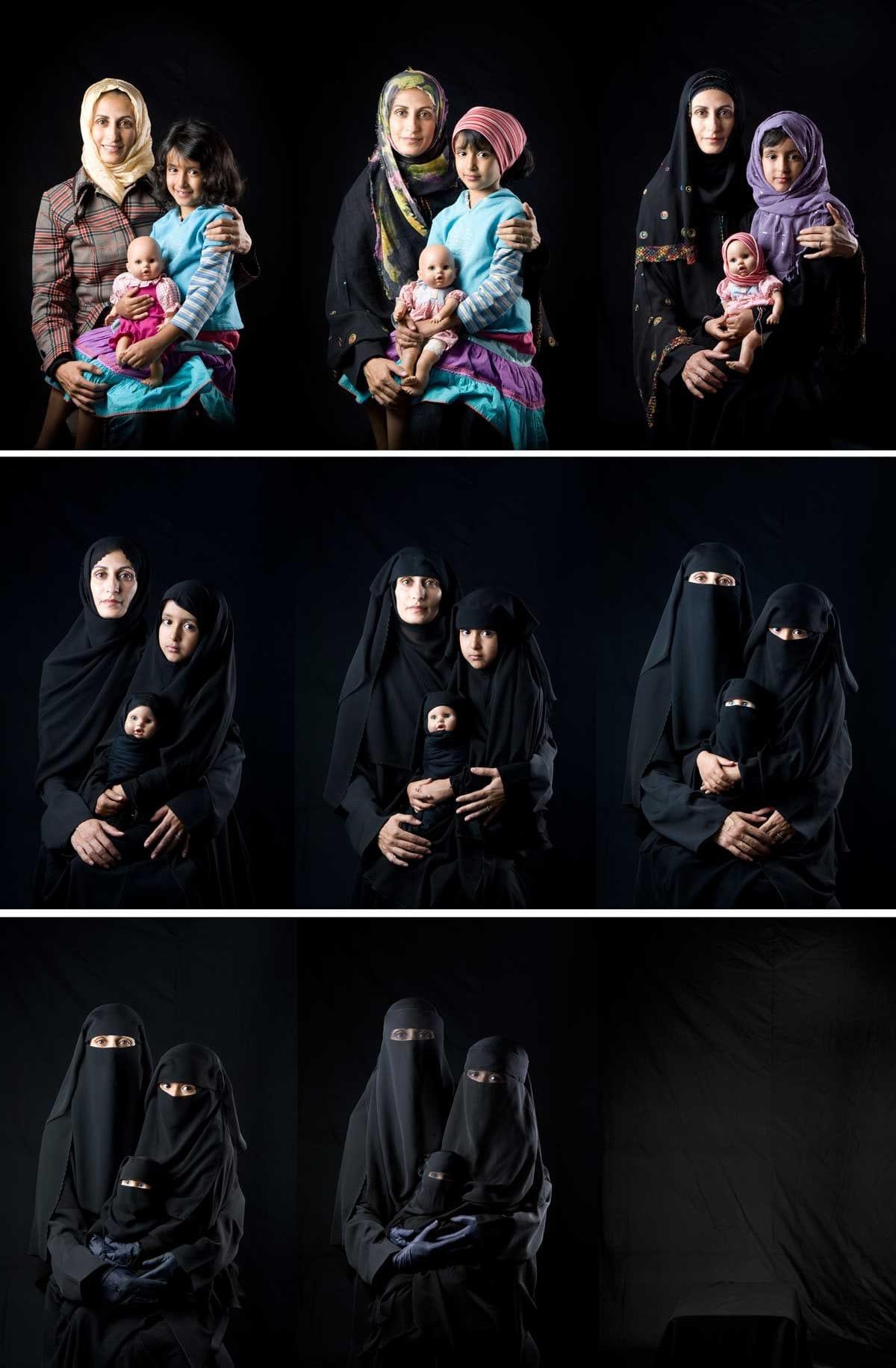 La mère, la fille et la poupée © Boushra Almutawakel