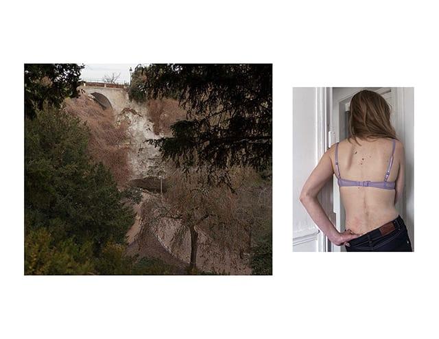 Lise, Les Buttes Chaumont, diptyque © Mathilde Geldhof