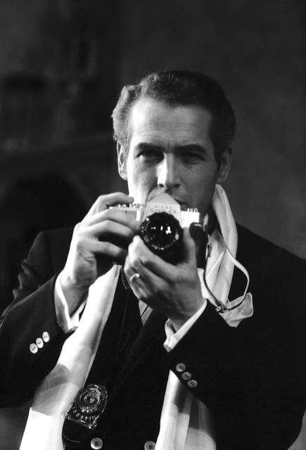 Paul Newman with camera
