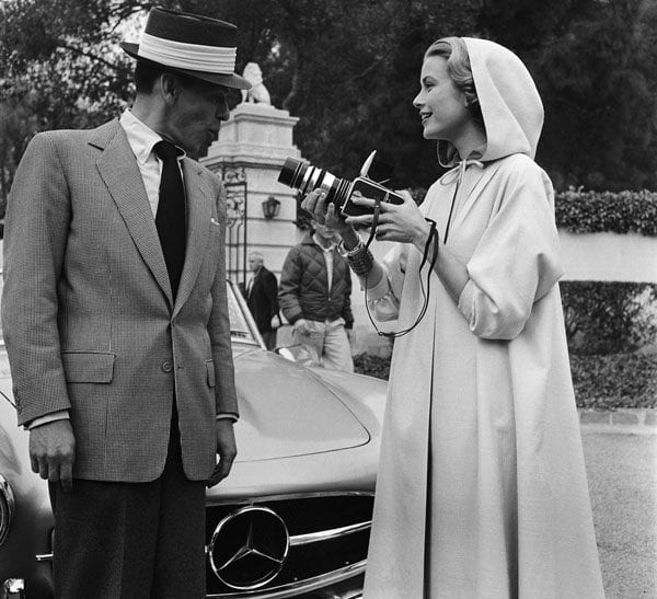 Grace Kelly Photographing Frank Sinatra
