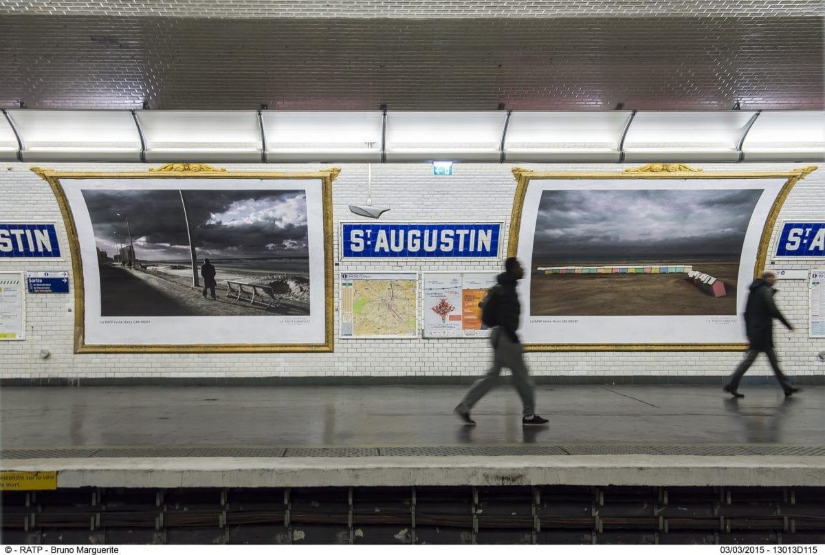 ESSAIS STATION SAINT AUGUSTIN D'AFFICHAGES DES IMAGES DU PHOTOGRAPHE HARRY GRUYAERT DE L'AGENCE MAGNUM EN PARTENARIAT AVEC LA MEP (MAISON EUROPEENE DE PHOTOGRAPHIE)
