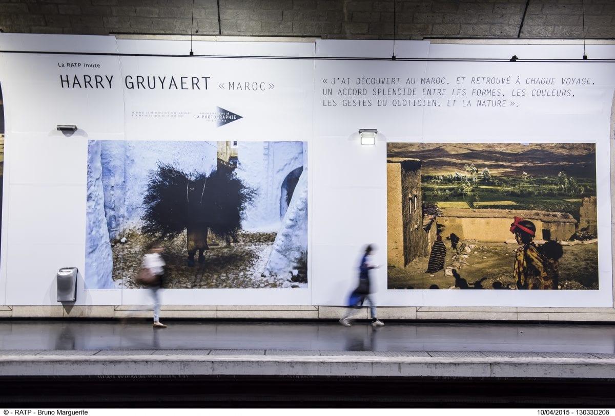 IMAGES  DU PHOTOGRAPHE  HARRY GRUYAERT DE L'AGENCE MAGNUM EXPOSEES DANS LES GARES ET STATIONS DU RESEAU DE TRANSPORT PARISIEN RATP