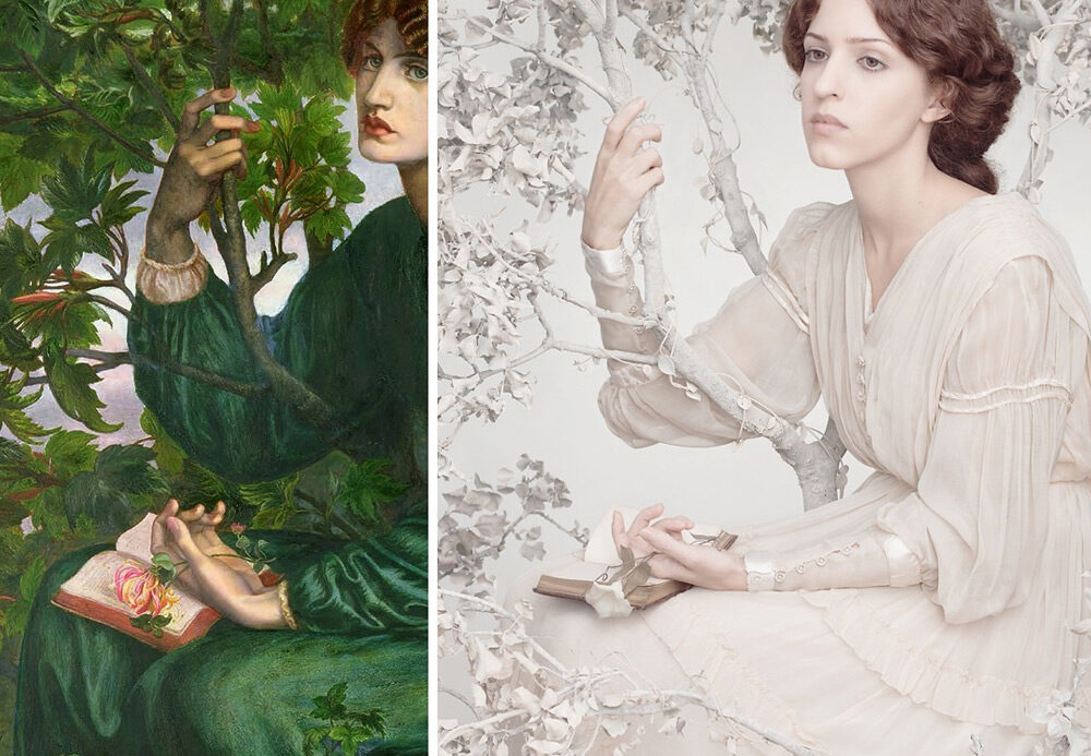 """The Day Dream"" de Dante Gabriel Rossetti, refait par Tania Brassesco et Lazlo Passi Norberto / © ""Remake: Master Works of Art Reimagined"", Jeff Hamada"