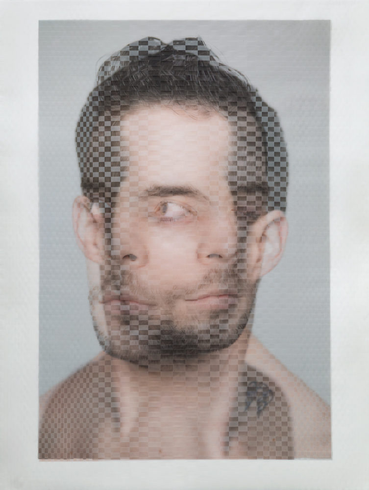 Woven Portrait of Seán Curran Comapny dancer Shane Dennis Rutkowski by David Samuel Stern