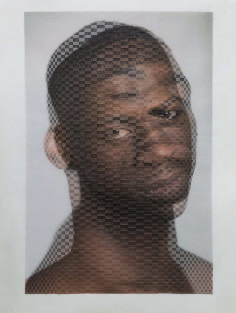 Woven Portrait of Seán Curran Comapny dancer Dwayne Brown by David Samuel Stern