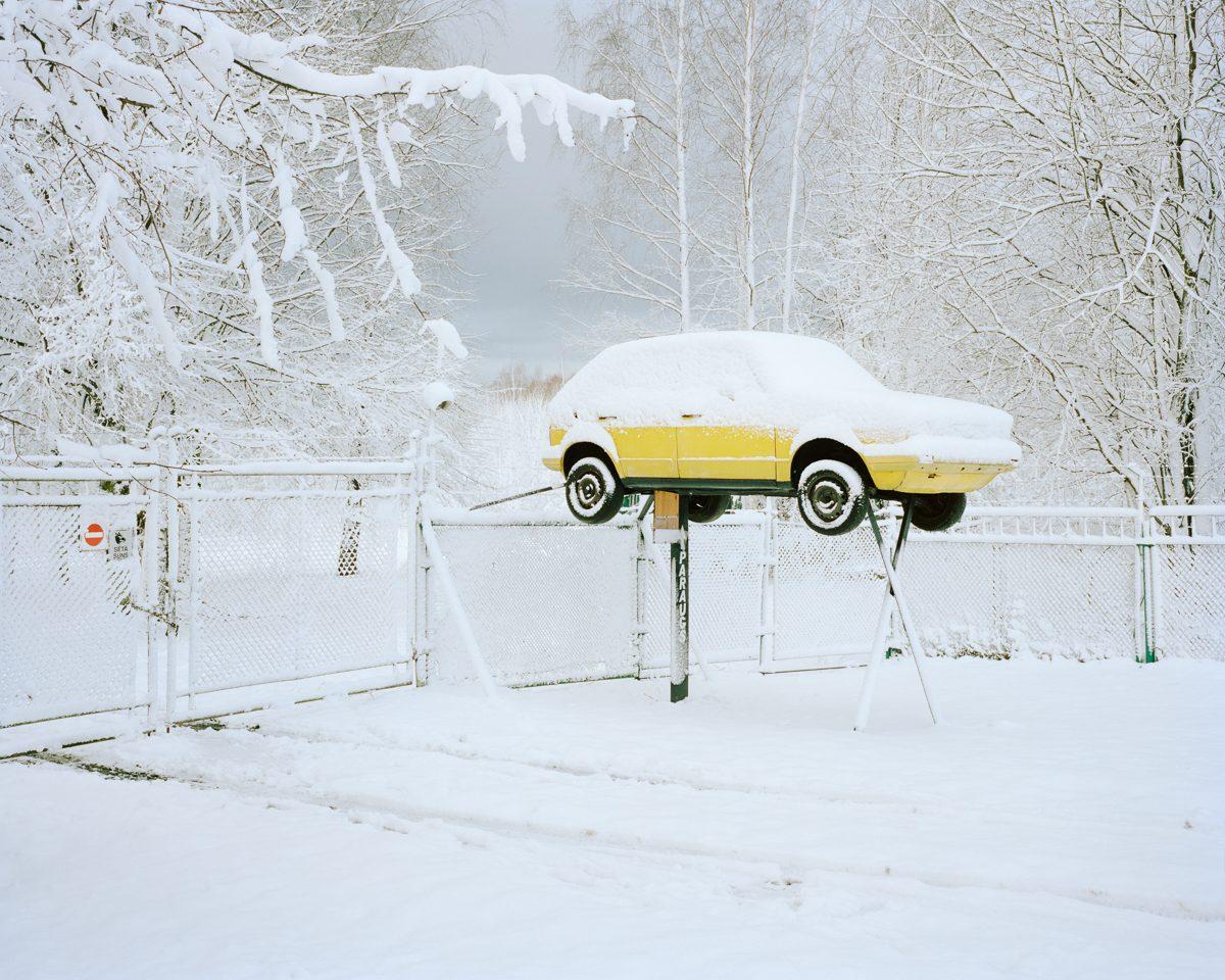 Car repair advertisement. Voleri, 2013.