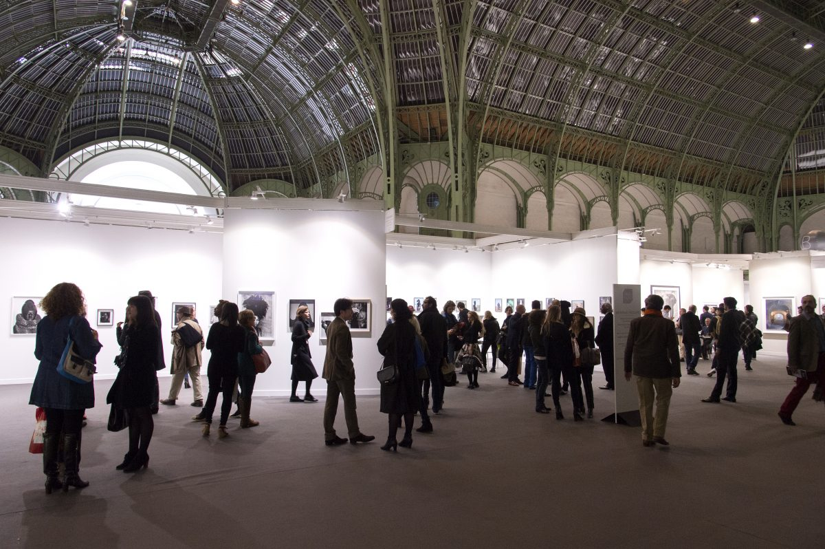 Vue generale de l'interieur du Grand Palais, Nov 11, 2015 © Marc Domage / Paris Photo