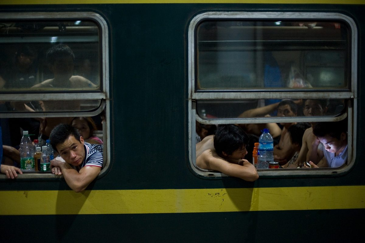"Extrait de la série ""The Green Train "", © Qian Haifeng"