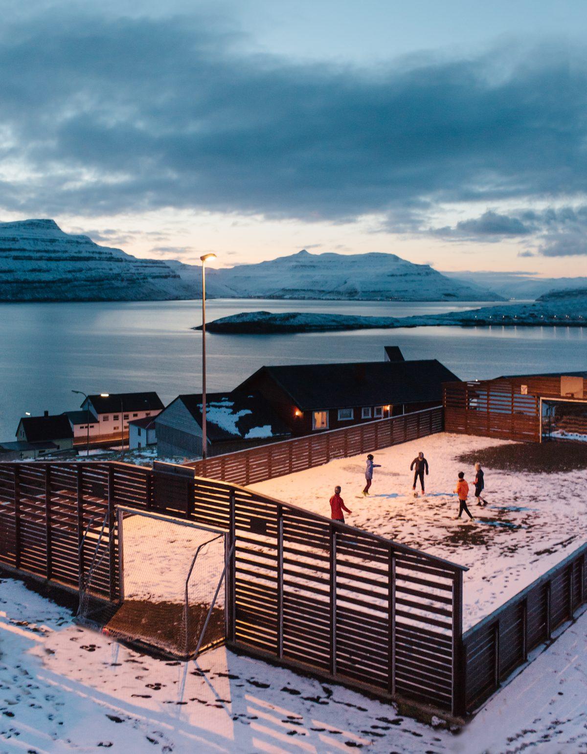 Football in Nes, Faroe Islands, 2016