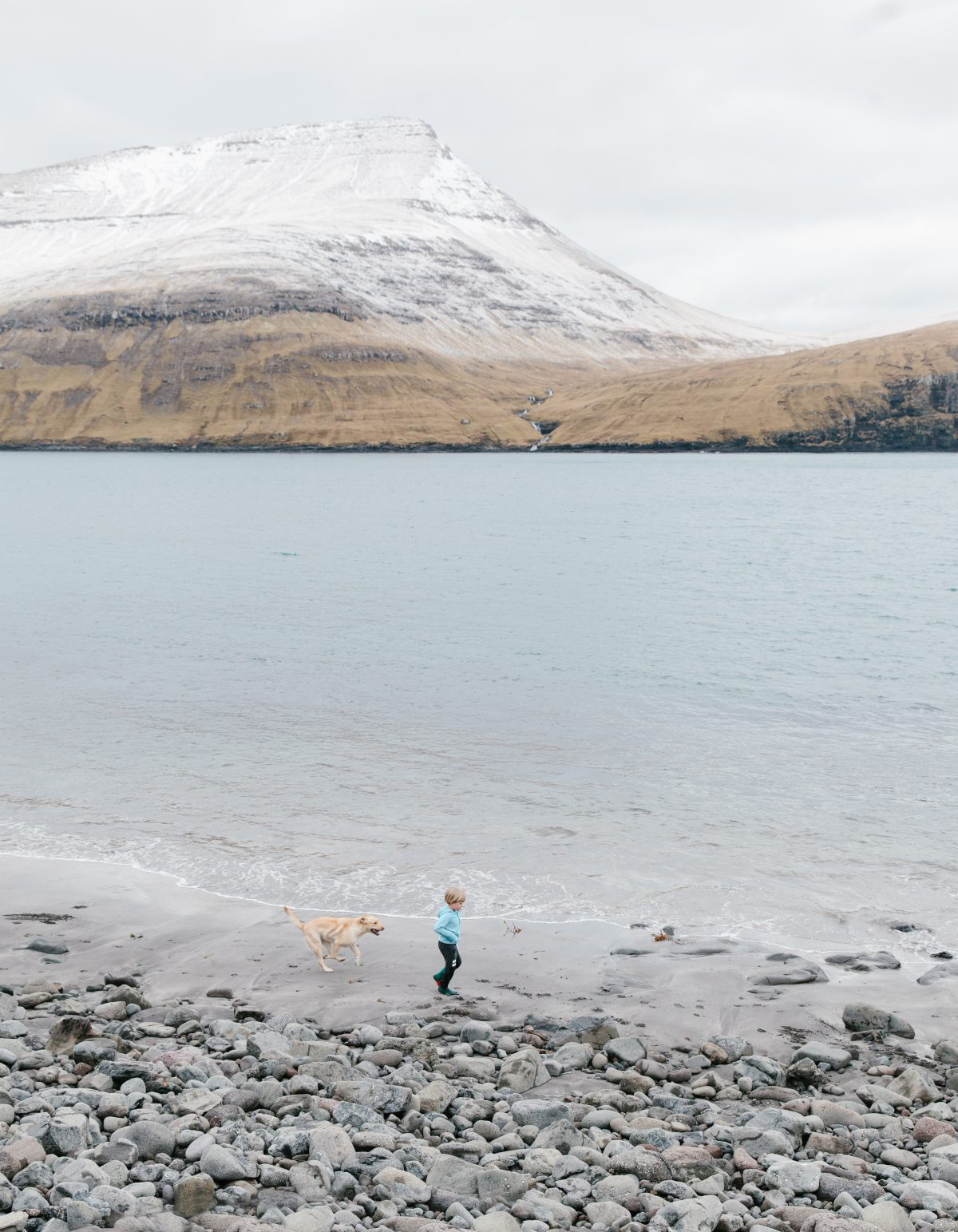 Child and dog, Faroe Islands, 2016