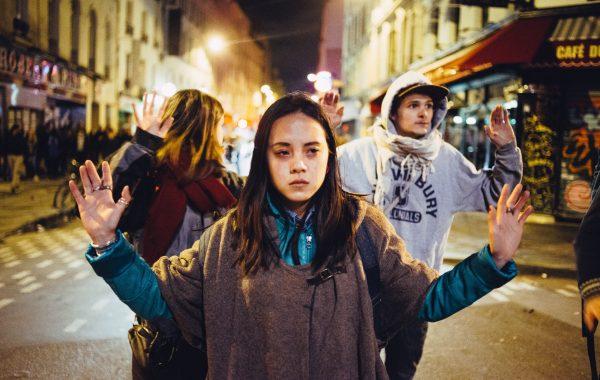 Nuit Debout 28 th 2016, union representatives spoke, clashes w