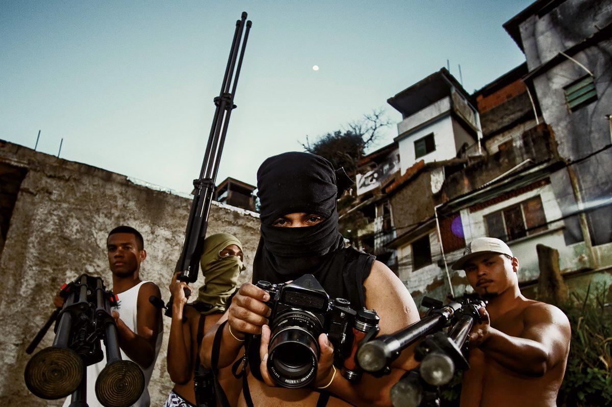 28 millimeters, Women are Heroes, Action in Morro Da Providencia Favela, Rio de Janeiro, 2008 ©JR