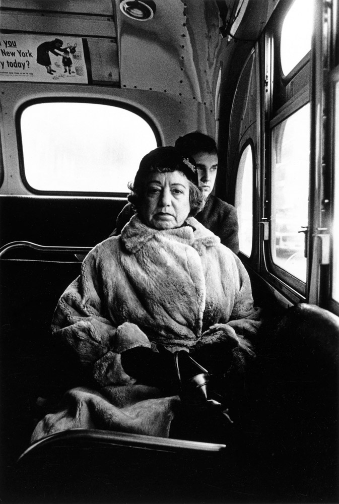 "Femme dans un bus, (""Lady on a bus""), New York, 1957, © The Estate of Diane Arbus, LLC All Rights Reserved"
