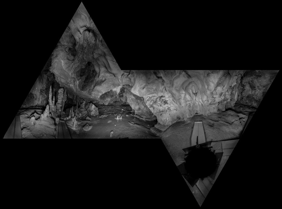 Grotte ornée Chauvet-Pont-d'Arc, Salle du crâne, panneau des chevaux, Octahedron, © Raphael Dallaporta
