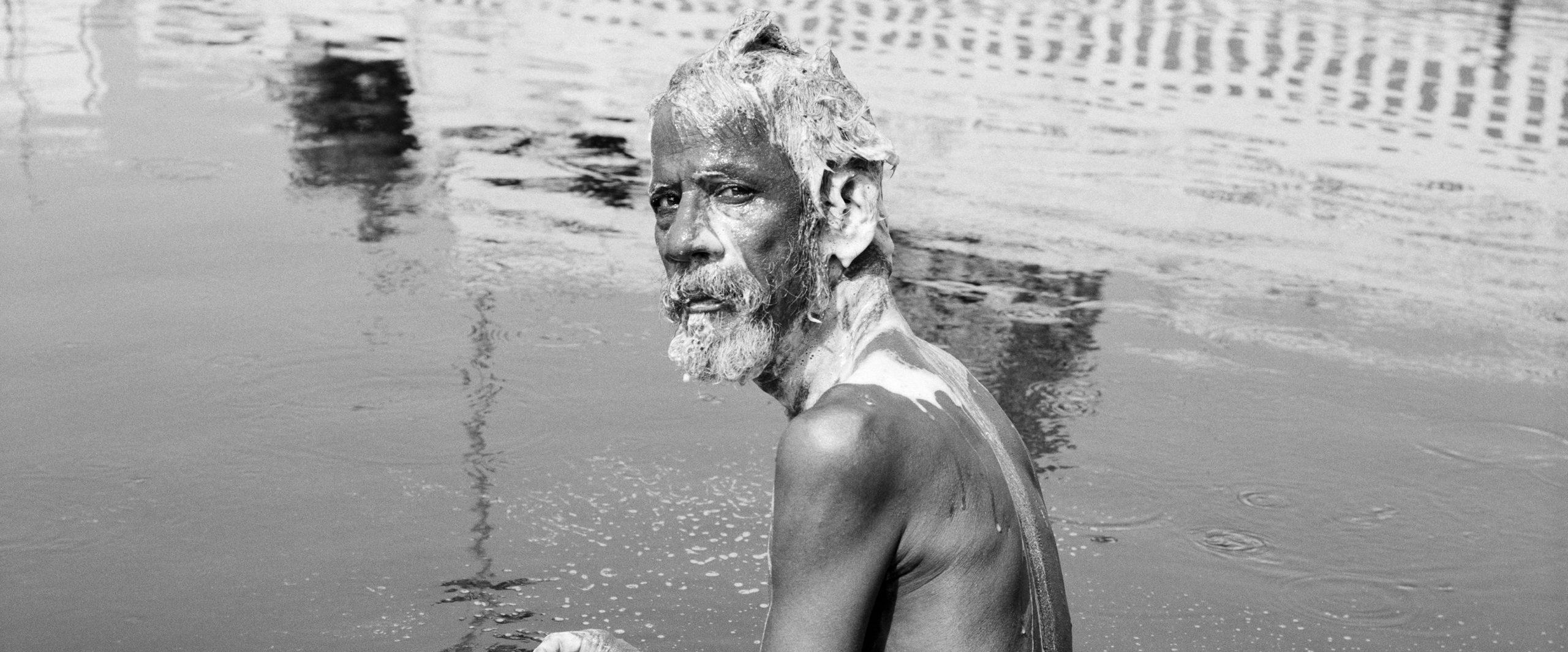 Chennai, Holy bath, Inde, 2014