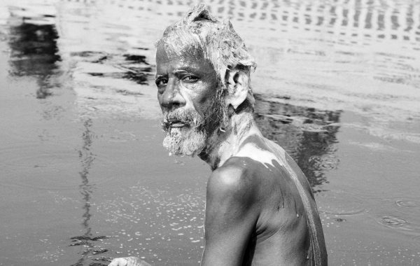 Chennai, Holy bath, Inde, 2014