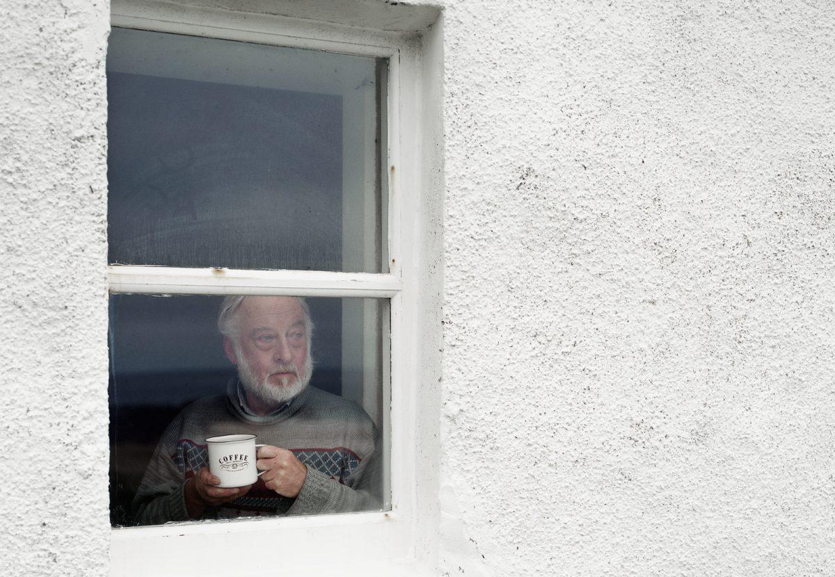 David at Kearvaig Bothy, Cape Wrath, Scotland. From Black Dots © Nicholas White