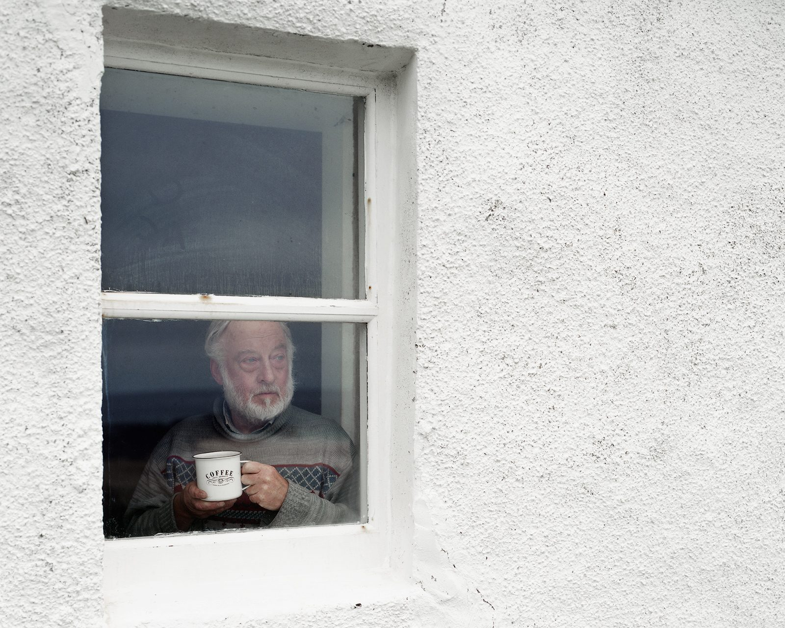 David at Kearvaig Bothy, Cape Wrath, Scotland. From Black Dots © Nicholas White