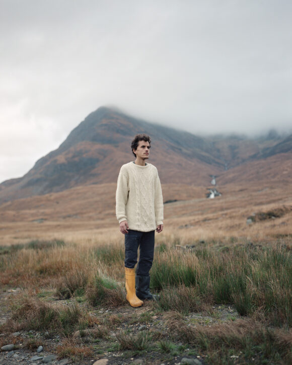 "Giles at Camasunary Bothy, Isle of Skye, Scotland. From ""Black Dots"" © Nicholas White"