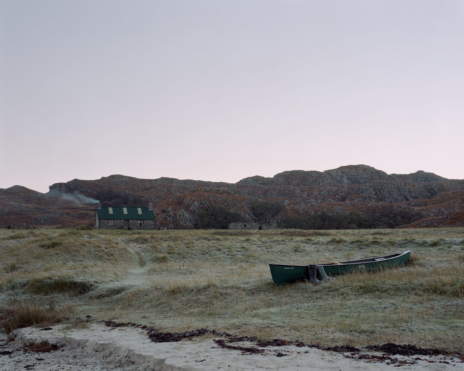 Sandy's Canoe at Peanmeanach, Ardnish Peninsula, Scotland. From Black Dots © Nicholas White