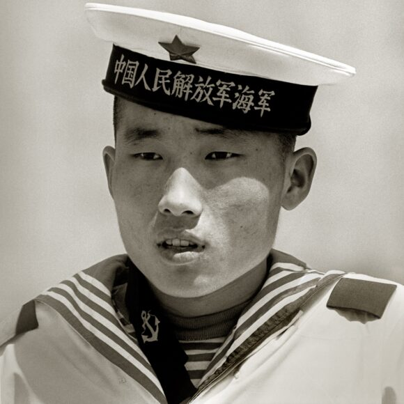 Sailor, People's Heroes Monument, Beijing, 1979. © Albert Watson