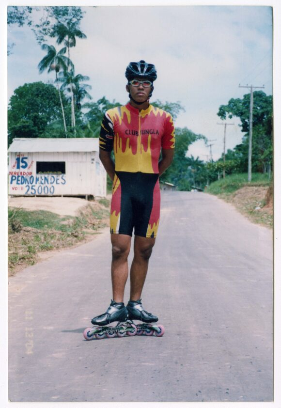 Amazonian roller skater, 2004. Anon. From Anaconda Press Archive. Leticia, Colombia. Copyright free*