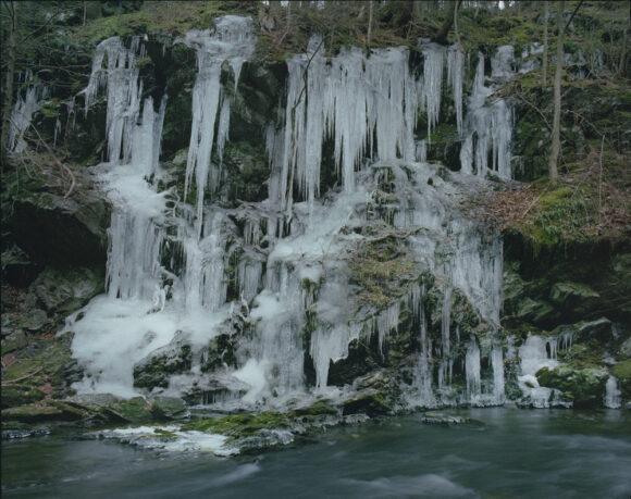 "Frozen Waterfall From ""Beast by the Waterfall Guesthouse"" © Wenxin Zhang"