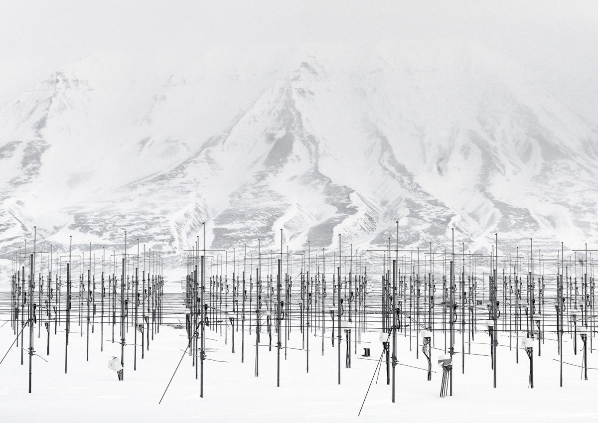 Sousy Svalbard Radar, Adventdalen, Spitsbergen Island, Norvège © Vincent Fournier