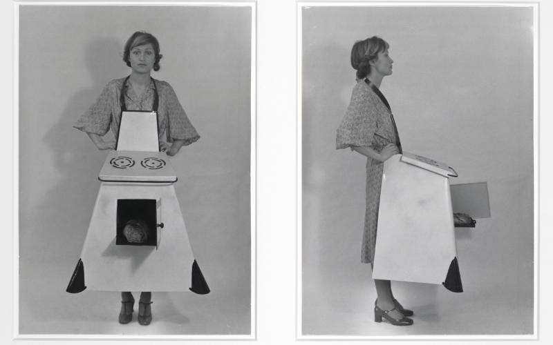 Birgit Jurgenssen. Hausfrauen – Küchenschürze (Housewives' Kitchen) Apron, 1975/2003.