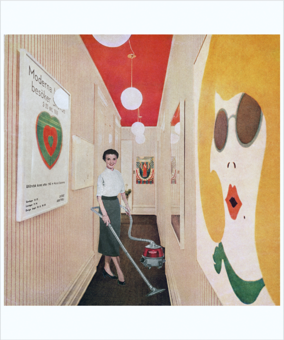 Martha Rosler, Woman with Vacuum, or Vacuuming Pop Art Courtesy of the artist