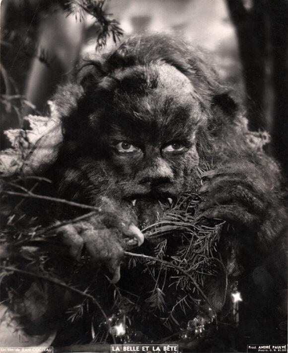 LA BELLE ET LA BETE Jean Marais, la Bête, film de Jean Cocteau, 1946.