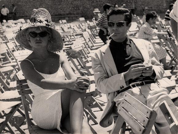 VIE PRIVEE Brigitte Bardot et Marcello Mastroianni, film de Louis Malle, 1962