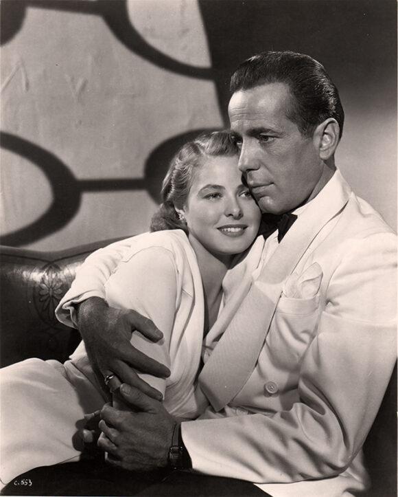 CASABLANCA Humphrey Bogart et Ingrid Bergman, film de Michael Curtiz, 1942.