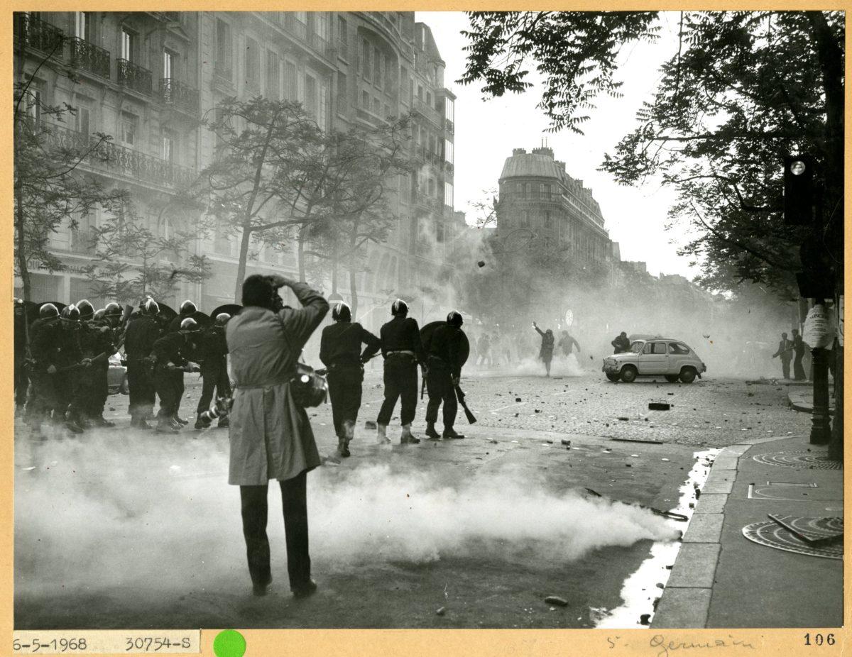 Manifestation du 6 mai 1968. Avec l'aimable autorisation de Préfecture de Police de Paris.