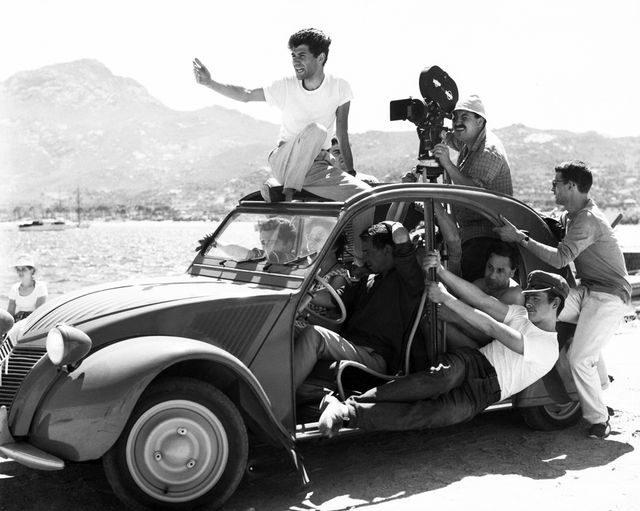 Sur le tournage d' Adieu Philippine de Jacques Rozier en 1960 © Raymond Cauchetier