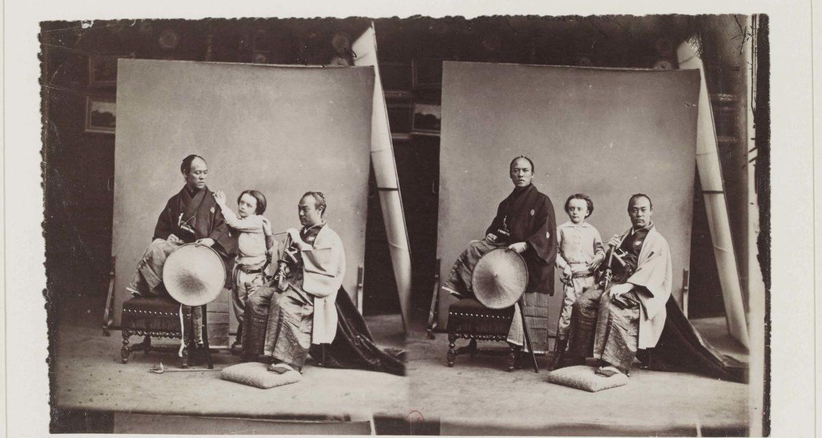 Félix Nadar, Paul Nadar enfant et deux membres de l'ambassade japonaise, 1862 BnF, département des Estampes et de la photographie