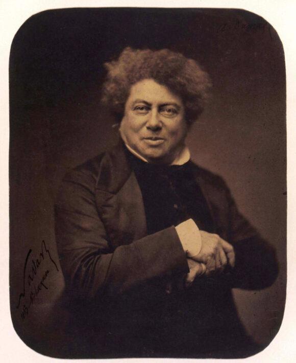 © Félix Nadar, Alexandre Dumas, Épreuve sur papier salé vernie, d'après un négatif sur verre au collodion, 1855 BnF, département des Estampes et de la photographie