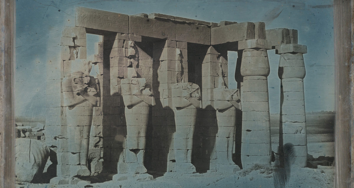 Joseph Philibert Girault de Prangey. Ramesseum, Thèbes. 1844. Daguerréotype, New-York, MET / licence Creatives commons