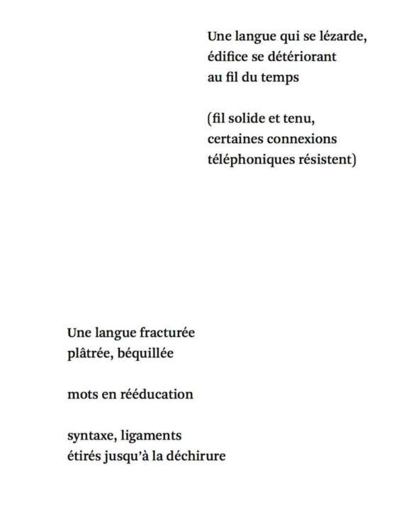 Poème extrait de Silences d'exils