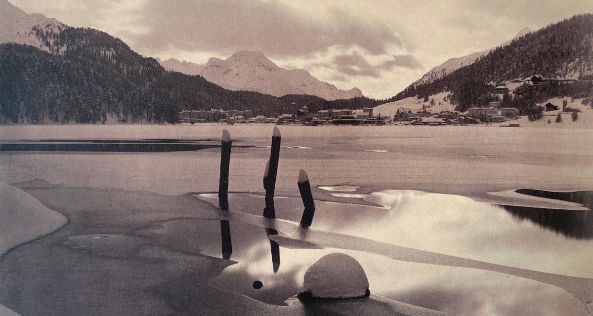 © Galerie WOS Albert Steiner Winterabend am St Moritzersee 1930